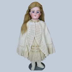 """Antique 27"""" German Bisque Head Walkure Doll ~ Lovely Outfit"""