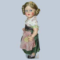 Vintage Turtle Mark Celluloid German Flirty Eye Doll