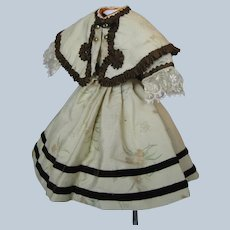 Doll Dress Three Piece Ensemble for your Antique French Fashion Doll