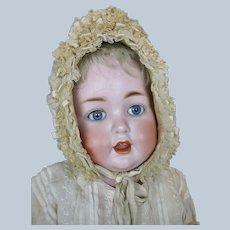 "Huge 25"" Life-size Antique German Bisque Head Baby Doll"