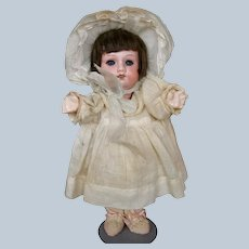 """Sweetest  9 1/2"""" Antique German Bisque Head Toddler Doll"""