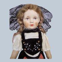 "Sweet 11"" Cloth Art Doll Bing Kruse Type ~ All Original"