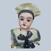 "Adorable 10"" Antique German Sailor Boy Doll"