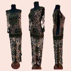 1920s Tape Lace Siren Flapper Dress