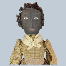 Ooak Artist Topsy Turvy Black White Cloth Doll