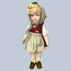 "Sweet 10"" German Bing Art Cloth Doll"