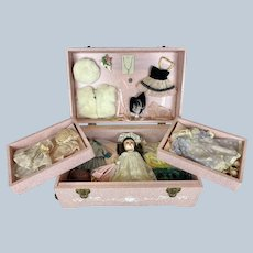 1955 Vogue Ginny Bridal Trousseau Chest with Original Outfits ~ Minty!