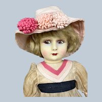 "French 18"" Felt and Cloth Raynal or Clelia Doll A/O"