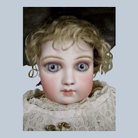 Stunning Early Almond Eyed Portrait Jumeau Bebe Doll