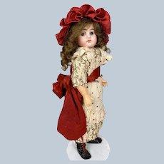 "Sweet Antique 12"" German Bisque Head Doll"