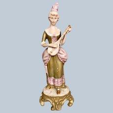 Royal Dux Figurine Lady with Mandolin