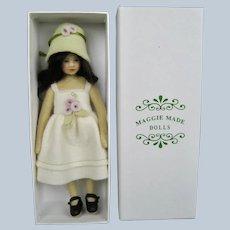 """MIB 7"""" Maggie Iacono Felt Doll Teresa"""