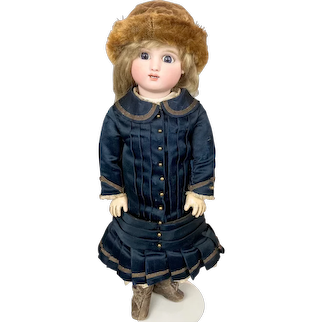 Antique French Bisque Bebe Steiner Series C Bourgoin Doll w Lever Eyes