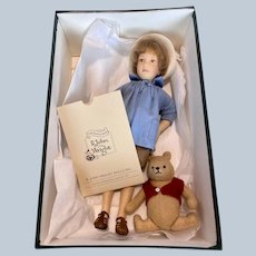 Early R John Wright Felt Christopher Robin and Winnie the Pooh Doll