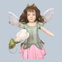 "R. John Wright ""Sweet Pea Fairy"" Flower Fairies - Limited Edition - Mint Box COA"