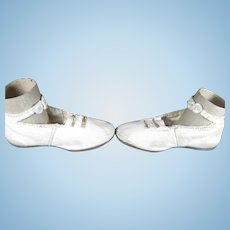 Antique Leather Large Doll Bebe Child Shoes