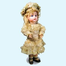 Antique Tete Jumeau Bebe Doll w Original Chemise, Clothing, Trunk