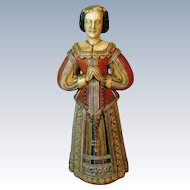 Antique Wax Religious Lady Figurine Figure Doll