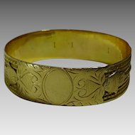 Vintage Moroccan 18 karat Gold Bracelet with Hamsa  motif