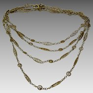 "Vintage North African- French 18 karat Gold Necklace ""citour """