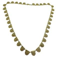 Vintage Elegant French 18 karat Gold  Filigree Necklace