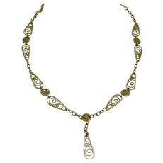 Vintage Dainty French 18 karat Gold Necklace