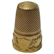 Vintage French 18 karat Gold Thimble
