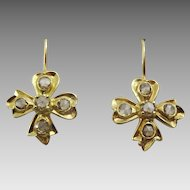 Handmade 18 karat Gold and Diamond Earrings