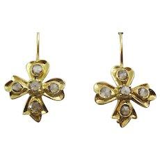Handmade 18 karat Gold and Diamond Earrings