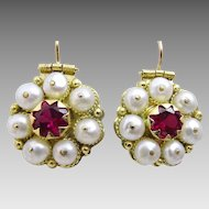 Handmade Uzbek style 18 k Gold Earrings