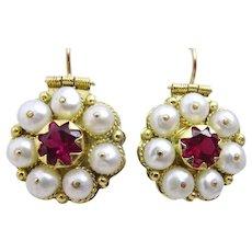 Handmade Uzbek style 18 k Gold Earrings
