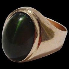Vintage 14 karat Gold and Cats Eye Ring.