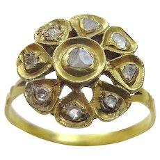 Vintage 8 and 9 Karat Diamond cluster Ring