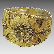 Vintage Persian 14 karat Gold Filigree Bracelet