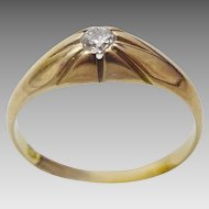 Vintage 18 karat Gold  and Diamond Pinkie Ring