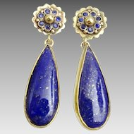 Handmade 9 karat Gold Lapis lazuli Earrings