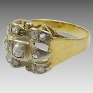 1940's Vintage  18 karat Gold Diamond Cocktail Ring