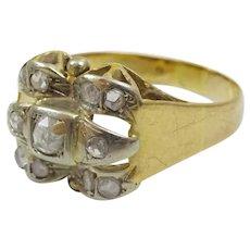 1940's Vintage  18 karat Gold Diamond Cocktail Ring