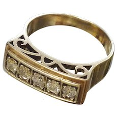 Vintage 14 karat Gold and Diamond Ring
