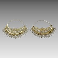 "Handmade 18 karat Gold and Pearl  ""Wedding Hoop """