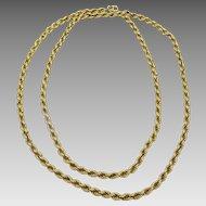 Handmade Vintage 18 karat Gold Chain