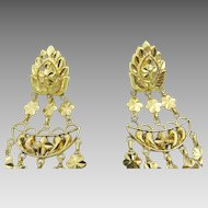 Vintage Indian 22 karat Gold Indian Earrings