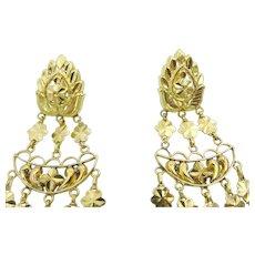 Vintage Indian 22 karat Gold Indian Earrings
