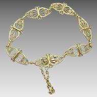 Vintage French  Handmade 18 karat gold Bracelet