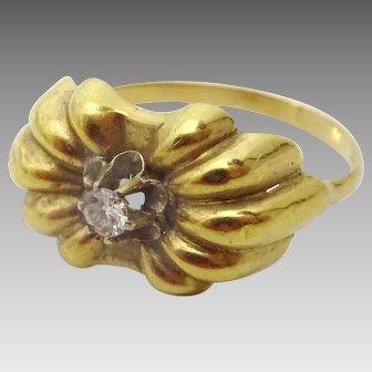 Vintage 18 karat Gold Art Deco Diamond Ring