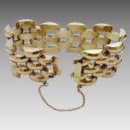 Vintage 1940's 14 Karat Gold Bracelet