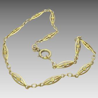 Unique Vintage French 18 karat Gold Necklace ( Bracelet )