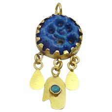 Vintage Traditional 18 karat Gold Kurdish Amulet