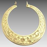 Handmade Engraved 14 karat gold Moroccan Earrings