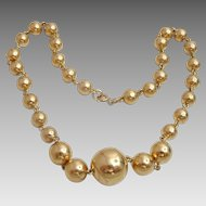 Vintage 14 karat Gold Russian Ball Necklace